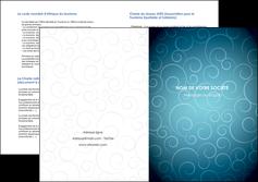 maquette en ligne a personnaliser depliant 2 volets  4 pages  abstrait arabique design MIF62303