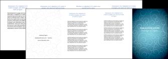 exemple depliant 4 volets  8 pages  abstrait arabique design MLGI62305