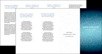 cree depliant 4 volets  8 pages  abstrait arabique design MLGI62309