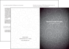 creation graphique en ligne depliant 2 volets  4 pages  abstrait arabique design MIF62321
