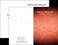 personnaliser maquette carte de visite rouge couleur couleurs MLGI62385