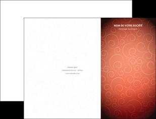 personnaliser maquette pochette a rabat rouge couleur couleurs MLGI62387