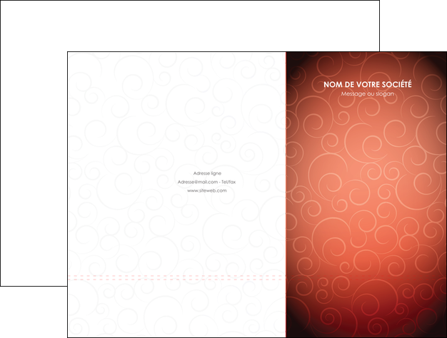 imprimerie pochette a rabat rouge couleur couleurs MLGI62389