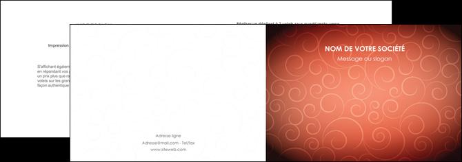 creer modele en ligne depliant 2 volets  4 pages  rouge couleur couleurs MLGI62391