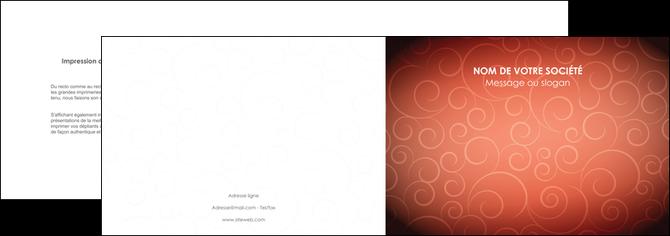 faire depliant 2 volets  4 pages  rouge couleur couleurs MLGI62393