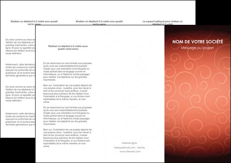 modele depliant 3 volets  6 pages  rouge couleur couleurs MLGI62401