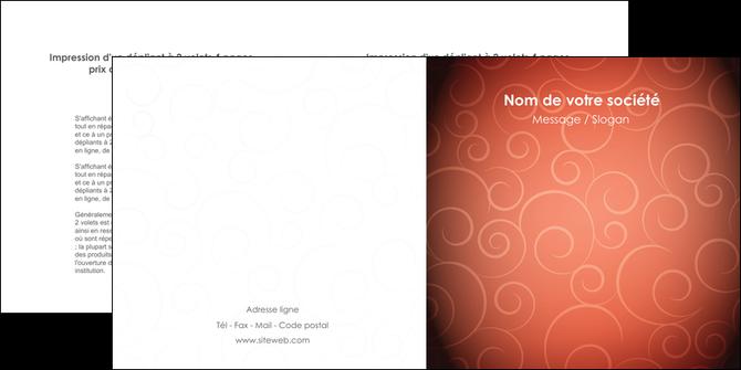 personnaliser maquette depliant 2 volets  4 pages  rouge couleur couleurs MLGI62405
