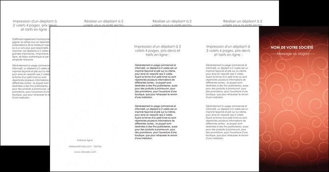 faire modele a imprimer depliant 4 volets  8 pages  rouge couleur couleurs MLGI62423
