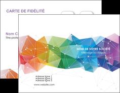 personnaliser modele de carte de visite graphisme arc en ciel bleu abstrait MIF62443