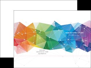 maquette en ligne a personnaliser pochette a rabat graphisme arc en ciel bleu abstrait MIF62447