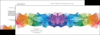 personnaliser modele de depliant 2 volets  4 pages  graphisme arc en ciel bleu abstrait MIF62449