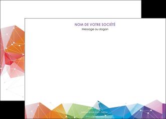 imprimerie affiche graphisme arc en ciel bleu abstrait MIF62453