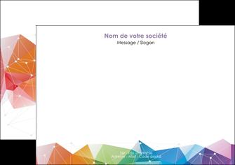 imprimerie flyers graphisme arc en ciel bleu abstrait MIF62457