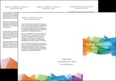 personnaliser modele de depliant 3 volets  6 pages  graphisme arc en ciel bleu abstrait MIF62459