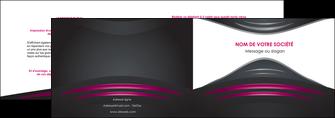 maquette en ligne a personnaliser depliant 2 volets  4 pages  gris rose vintage MLGI62669