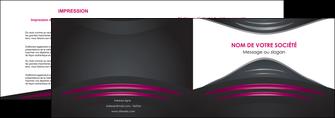 personnaliser modele de depliant 2 volets  4 pages  gris rose vintage MLGI62671