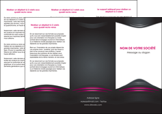 imprimerie depliant 3 volets  6 pages  gris rose vintage MLGI62679