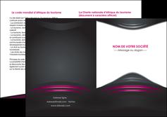 creer modele en ligne depliant 2 volets  4 pages  gris rose vintage MLGI62693
