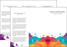 Commander Plaquette d'entreprise  modèle graphique pour devis d'imprimeur Dépliant 6 pages Pli roulé DL - Portrait (10x21cm lorsque fermé)