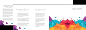 creation graphique en ligne depliant 4 volets  8 pages  couleur couleurs colore MIF62749