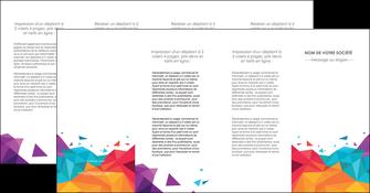 personnaliser modele de depliant 4 volets  8 pages  couleur couleurs colore MIF62753