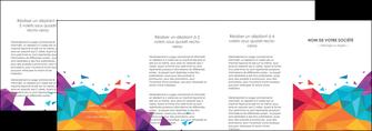 imprimerie depliant 4 volets  8 pages  couleur couleurs colore MIF62755