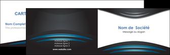 impression carte de visite gris bleu couleurs froides MLIG62775