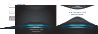 personnaliser modele de depliant 2 volets  4 pages  gris bleu couleurs froides MLIG62783