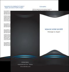 impression depliant 2 volets  4 pages  gris bleu couleurs froides MLIG62795
