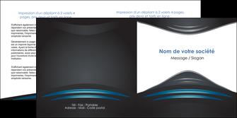 realiser depliant 2 volets  4 pages  gris bleu couleurs froides MLIG62797
