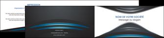 personnaliser maquette depliant 2 volets  4 pages  gris bleu couleurs froides MLIG62803