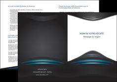 personnaliser modele de depliant 2 volets  4 pages  gris bleu couleurs froides MLIG62807