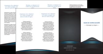 creation graphique en ligne depliant 4 volets  8 pages  gris bleu couleurs froides MLIG62813