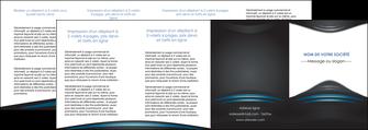 cree depliant 4 volets  8 pages  gris bleu couleurs froides MLIG62815