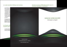 creer modele en ligne depliant 2 volets  4 pages  gris vert vintage MIF62825
