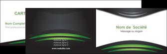 impression carte de visite gris vert vintage MIF62827