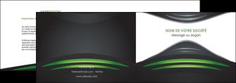 personnaliser maquette depliant 2 volets  4 pages  gris vert vintage MIF62835