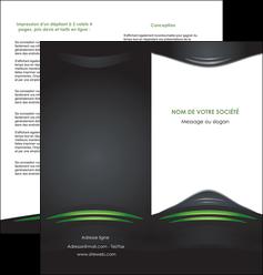 personnaliser maquette depliant 2 volets  4 pages  gris vert vintage MIF62847