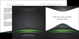 creation graphique en ligne depliant 2 volets  4 pages  gris vert vintage MIF62849