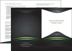 maquette en ligne a personnaliser depliant 2 volets  4 pages  gris vert vintage MIF62859