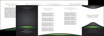 cree depliant 4 volets  8 pages  gris vert vintage MIF62861