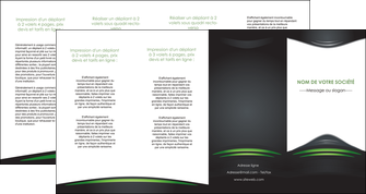 modele depliant 4 volets  8 pages  gris vert vintage MIF62865