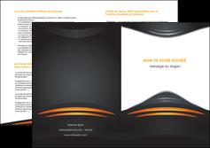 imprimerie depliant 2 volets  4 pages  bijouterie gris or vintage MIF62911