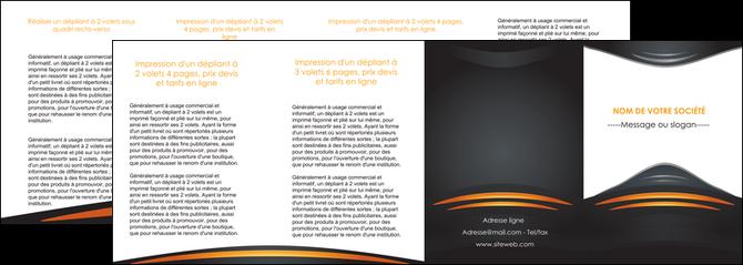 creer modele en ligne depliant 4 volets  8 pages  bijouterie gris or vintage MLGI62919