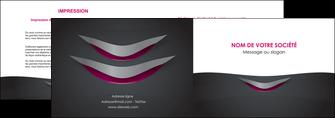 modele en ligne depliant 2 volets  4 pages  gris gris fonce mat MIF63481