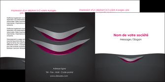 exemple depliant 2 volets  4 pages  gris gris fonce mat MIF63493