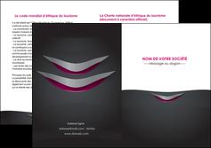 creation graphique en ligne depliant 2 volets  4 pages  gris gris fonce mat MIF63503