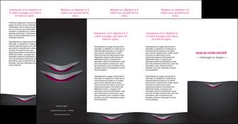 creation graphique en ligne depliant 4 volets  8 pages  gris gris fonce mat MIF63511