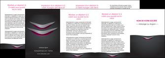 maquette en ligne a personnaliser depliant 4 volets  8 pages  gris gris fonce mat MIF63513