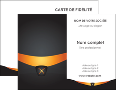 faire modele a imprimer carte de visite web design noir simple professionnel MLGI63577